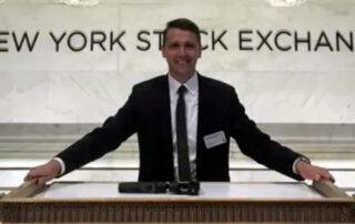 Sam Huszczo rings NYSE closing bell
