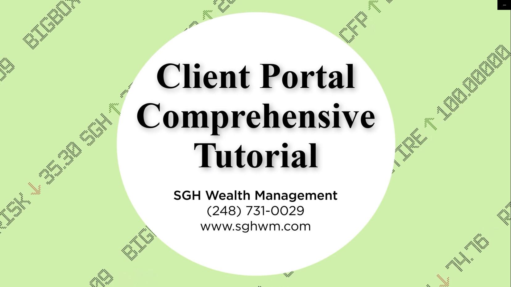 SGH Client Portal Tutorial Videos